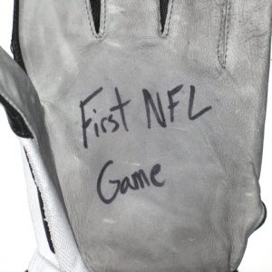 Jason Fox Detroit Lions Rookie Game Worn & Signed Nike Gloves - Worn for 1st NFL Game Vs Tampa Bay Buccaneers!!!