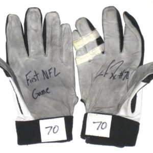 Jason Fox Detroit Lions Rookie Game Worn & Signed Nike Gloves - Worn for 1st NFL Game Vs Tampa Bay Buccaneers!!