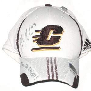 "Nick Bellore Autographed Central Michigan Chippewas Adidas Hat - With ""Fire Up Chips!"" Inscription!"