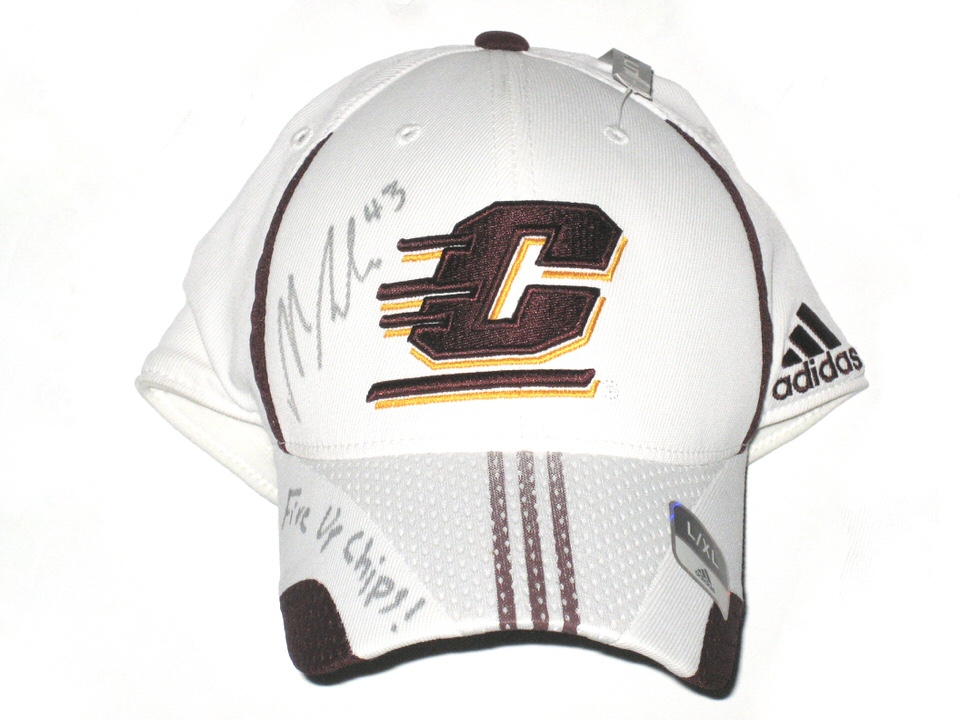 "Nick Bellore with Autographed Central Michigan Chippewas Adidas Hat - With  ""Fire Up Chips!"" Inscription!!!"