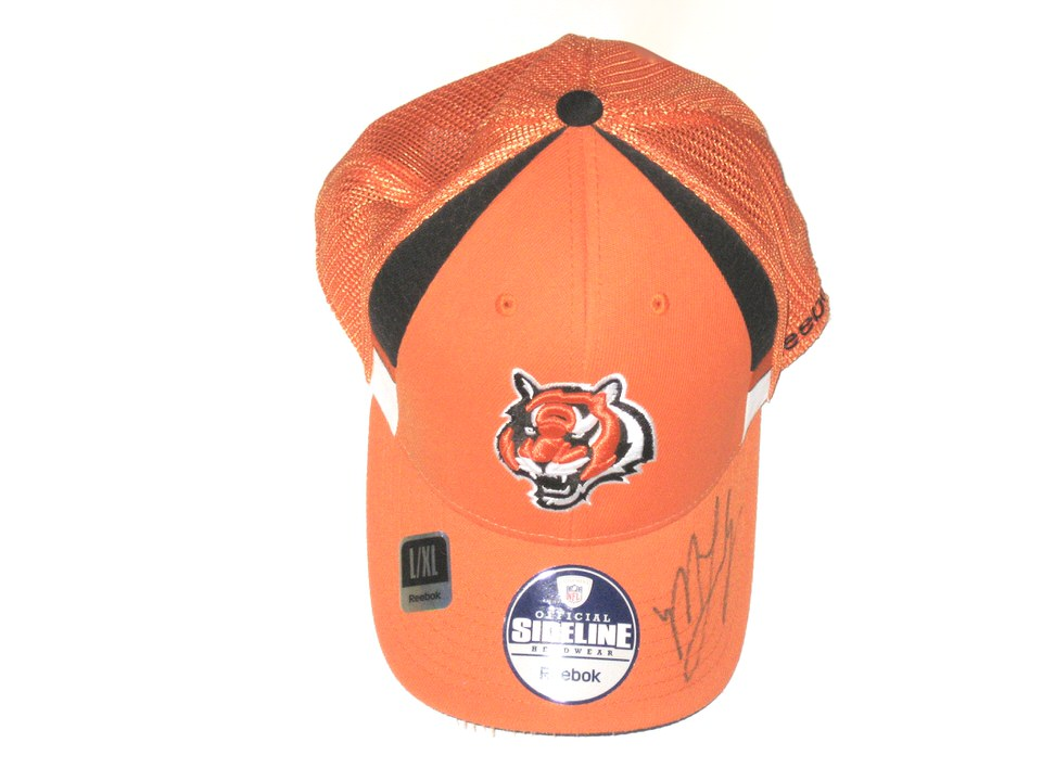 Marlon Lucky Sideline Worn   Autographed Official Cincinnati Bengals Reebok  Hat 0b6801dd93b