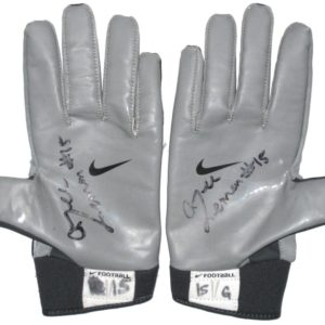 Alec Lemon Syracuse Orange Game Worn & Signed Nike Gloves