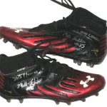 Matt Furstenburg Maryland Terrapins Game Used & Signed Under Armour Nitro Cleats - Worn Vs. Clemson Tigers on November 10th, 2012!