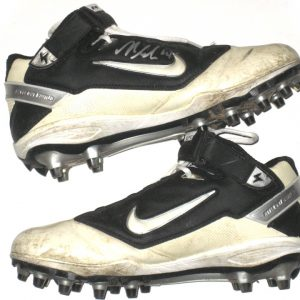 Nick Bellore New York Jets Game Worn & Signed Nike Cleats - Worn Vs Jacksonville Jaguars in 32-3 Win, Mo Wilkerson 1st NFL Sack!