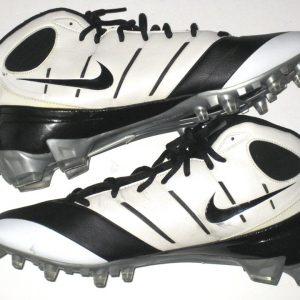 6ab8857d51c Ronald Talley Arizona Cardinals Game Worn   Signed Black   White Nike Speed  Cleats
