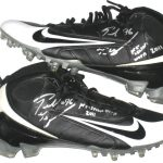 Ronald Talley Arizona Cardinals Game Used & Signed Black & White Nike Cleats