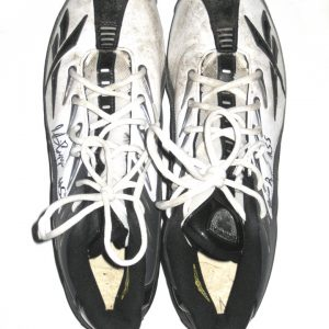 Stevie Baggs Saskatchewan Roughriders Game Used & Signed Reebok Cleats