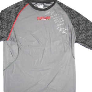 AJ Francis Game Worn & Signed Maryland Terrapins Under Armour 3XL Compression Shirt
