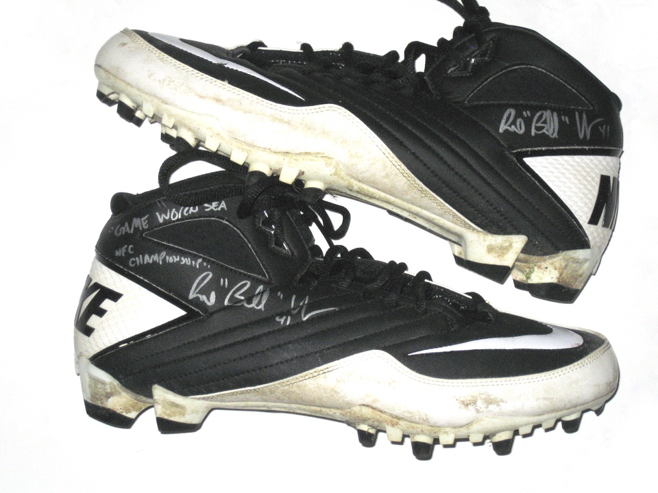 651880d03 Bubba Ventrone San Francisco 49ers Game Used   Signed Nike Cleats - Worn In  NFC Title