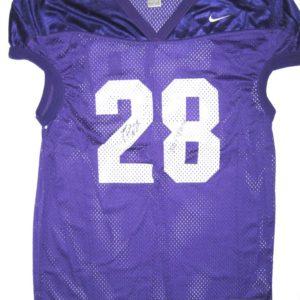Jestin Love Central Arkansas Bears Practice Worn Purple & White XL Nike Jersey