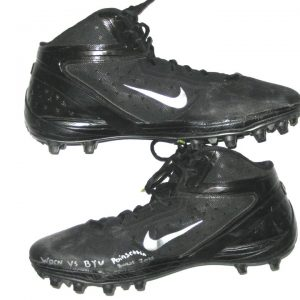 aa78009ce51 Nik Embernate San Diego State Aztecs Game Worn   Signed Black   Silver Nike  Cleats -