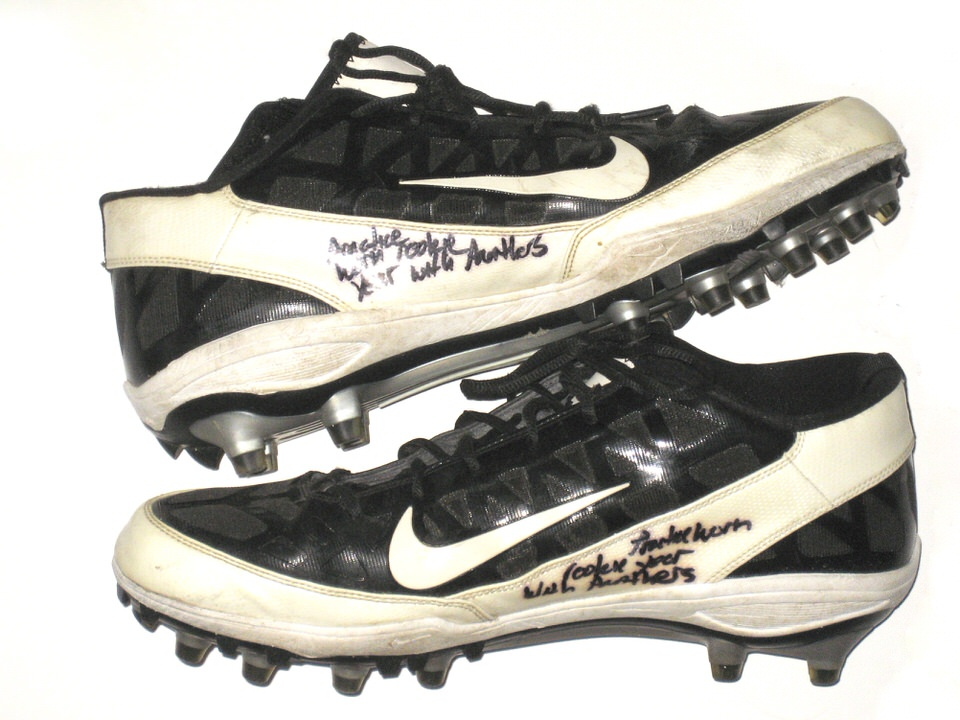 Thomas Keiser Carolina Panthers Practice Worn Nike Cleats  supplier