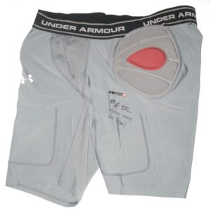 AJ Francis Maryland Terrapins Game Worn & Signed Gray Under Armour 3XL Compression Shorts
