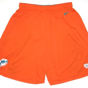 AJ Francis Training Worn Official Miami Dolphins #76 Nike 3XL Shorts