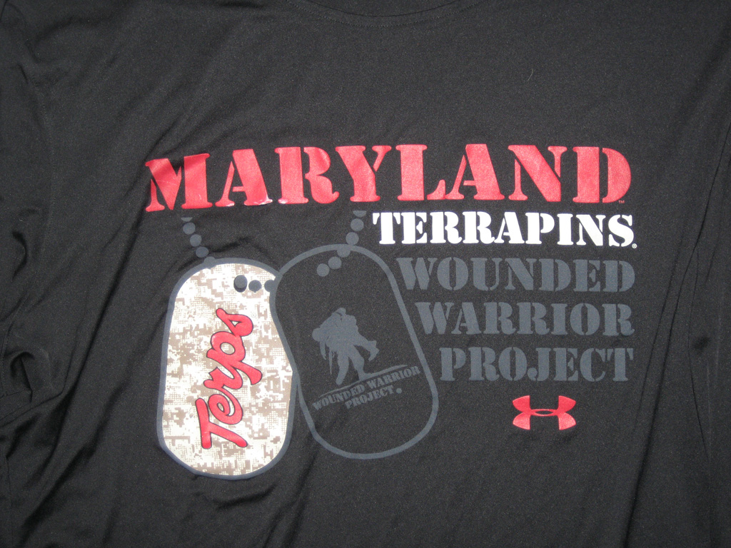 AJ Francis Maryland Terrapins Wounded Warrior Project 4XL Under Armour Long Sleeve Shirt