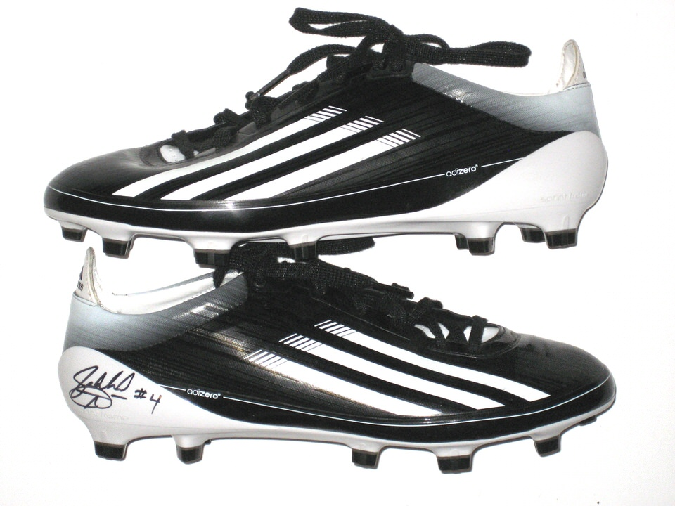 16fabf430ca Jahleel Addae Central Michigan Chippewas NFL Pro Day Worn   Signed Black    White Adidas Adizero Cleats – Worn for 40-Yard Dash!!