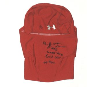 ed8bad9b657 AJ Francis Maryland Terrapins Game Used   Signed Under Armour Cold Gear  Face Mask