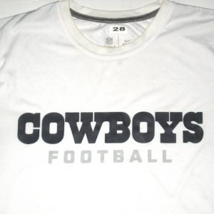 Kendial Lawrence Player Issued White Dallas Cowboys Football #28 Nike Large Shirt