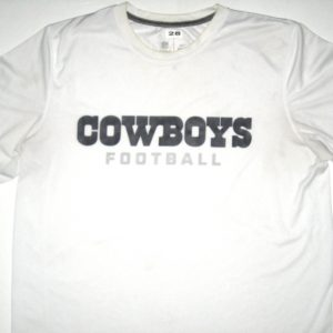 Kendial Lawrence Player Issued White Dallas Cowboys Football #28 Nike Shirt