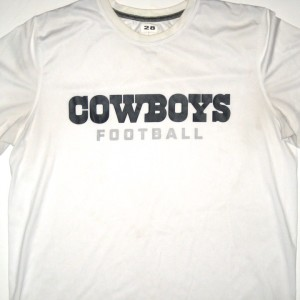 Kendial Lawrence Training Worn Dallas Cowboys Football #28 Nike Shirt