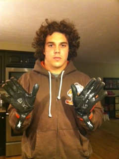 Bubba Ventrone Cleveland Browns Game Worn Gloves