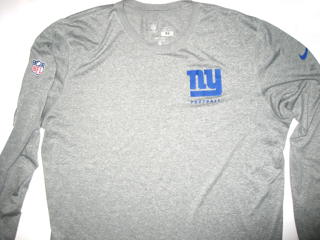 Kerry Wynn 2014 Rookie Player Issued New York Giants  69 Long Sleeve ... 527b5d74f