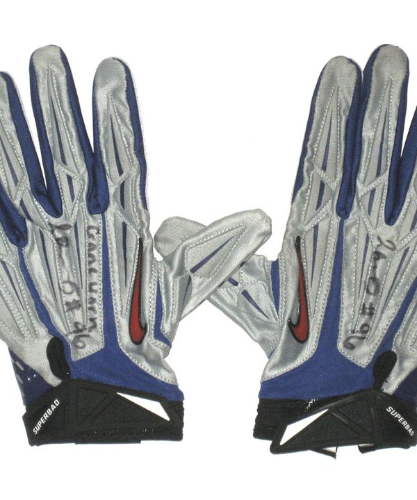uk availability fc019 060d6 Jay Bromley 2014 Rookie Game Worn & Signed Official New York Giants Team  Logo Nike Superbad Gloves