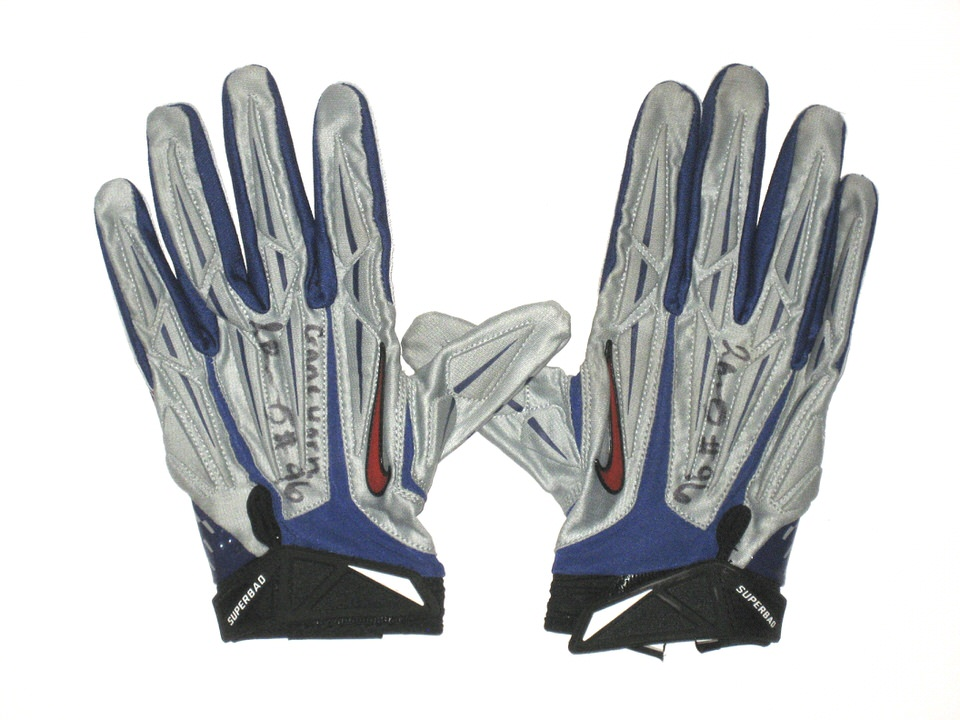 0f0efd458a4 Jay Bromley 2014 Rookie Game Worn   Signed New York Giants Team Logo Nike  Superbad Gloves