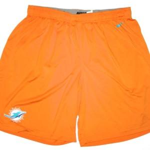 AJ Francis Training Worn Official Miami Dolphins #96 Nike Dri-FIT 3XL Shorts