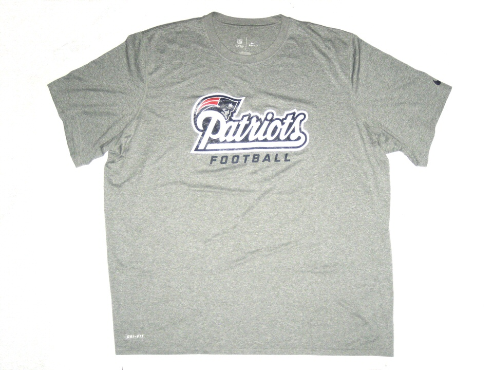d9aeca29 AJ Francis Training Worn Official New England Patriots Football Nike Dri-Fit  3XL Shirt