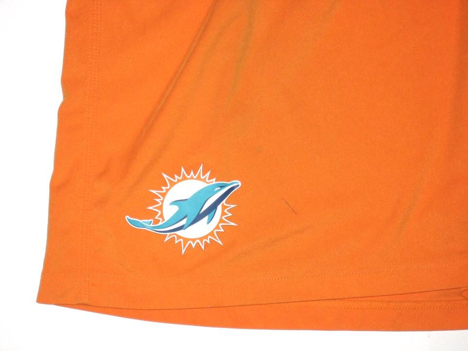 955e46a5402b ... Shorts  AJ Francis Practice Worn Official Miami Dolphins .