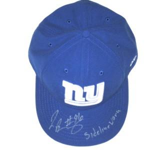 wholesale dealer a1780 86486 Jay Bromley Sideline Worn   Signed New York Giants New Era Hat