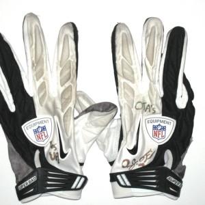 AJ Francis Miami Dolphins 2014 OTAs Worn & Signed Nike Gloves
