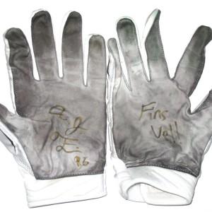AJ Francis Miami Dolphins 2015 Training Camp Worn Under Armour Gloves