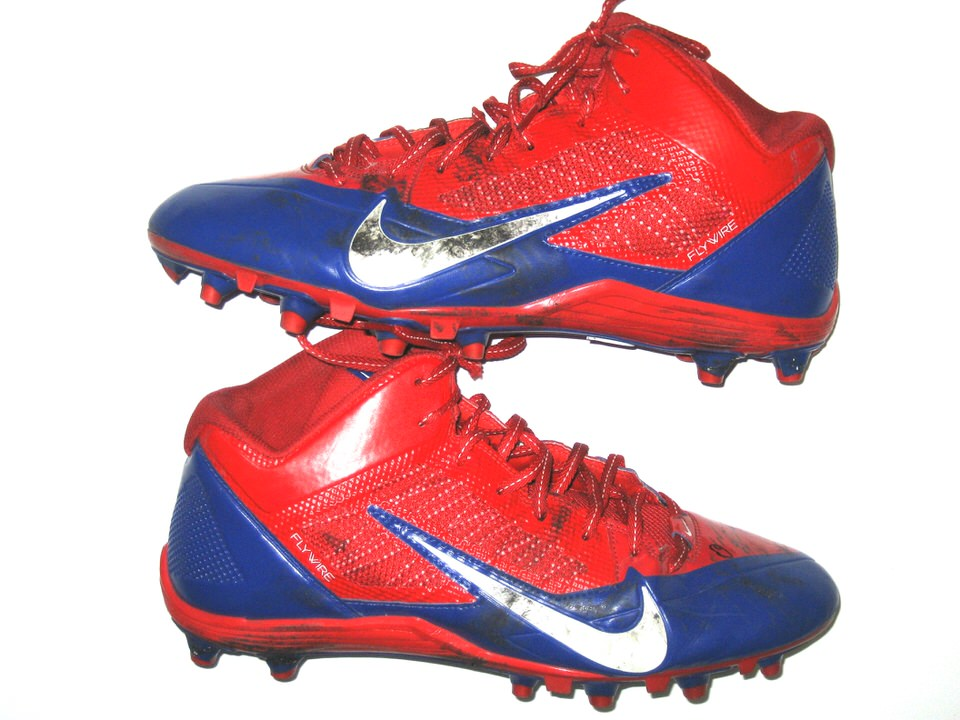 New York Giants Game Worn \u0026 Signed Cleats