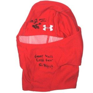 AJ Francis Maryland Terrapins Game Worn & Signed Under Armour Cold Gear Face Mask