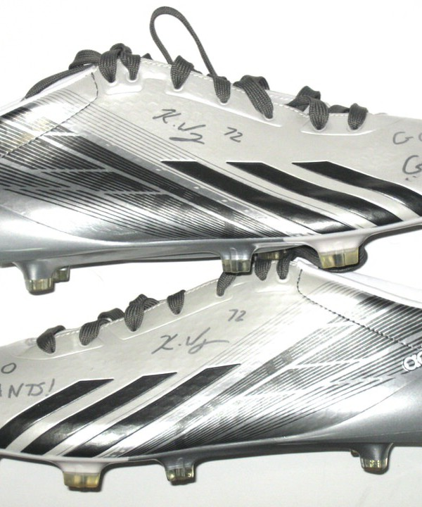 brand new 5a960 d9c34 Kerry Wynn NFL Combine Issued  Signed White, Gray  Silver Adidas Adizero 5 -