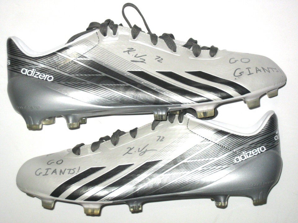 brand new ea884 5f0d2 Kerry Wynn NFL Combine Issued  Signed White, Gray  Silver Adidas Adizero 5 -
