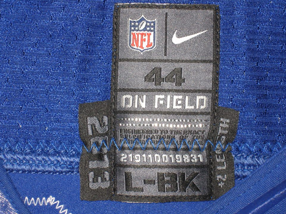 Cheap NFL Jerseys Wholesale - Jay Bromley Game Used & Signed New York Giants Nike Jersey (Worn ...