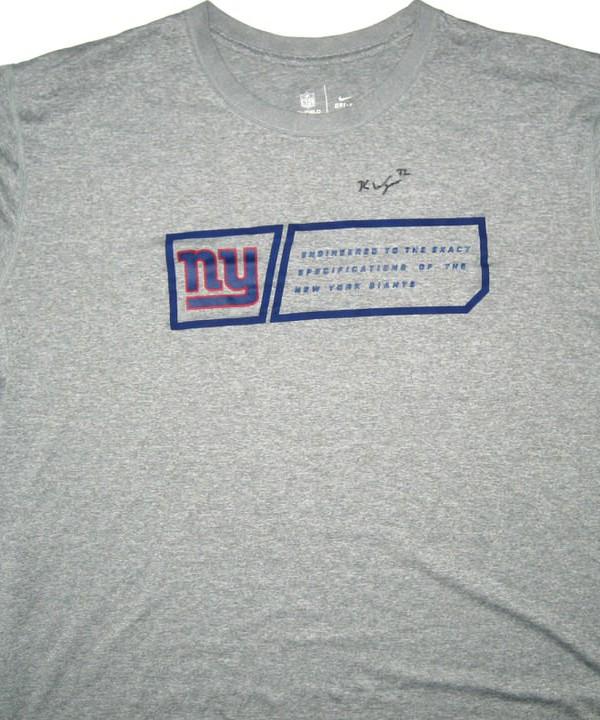 639f7b4b2 Kerry Wynn Training Worn   Signed New York Giants Nike Dri-Fit 3XL Shirt