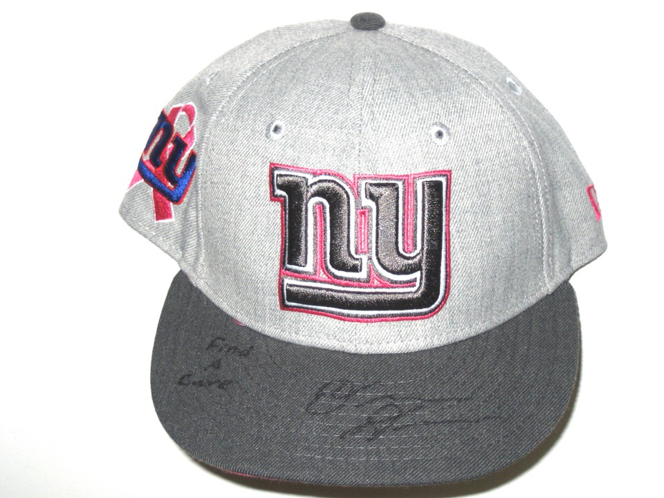 sideline worn new york giants cancer awareness era cap baseball hat history old