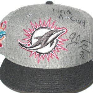 AJ Francis Sideline Worn & Signed Miami Dolphins Breast Cancer Awareness New Era 59Fifty Hat