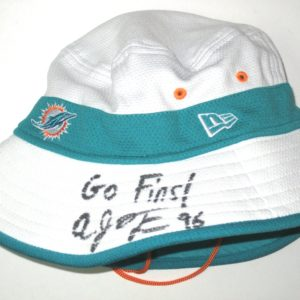 AJ Francis Training Camp Worn & Signed Official Miami Dolphins Walk -Thru New Era Bucket Hat