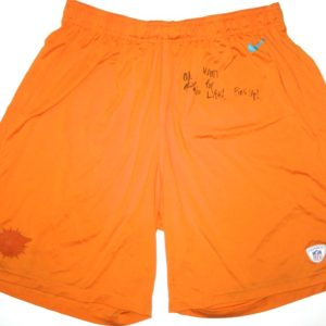 AJ Francis Practice Worn Official Miami Dolphins #96 Nike Dri-FIT 3XL Shorts