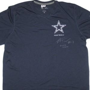Alex Tanney Game Worn & Signed Dallas Cowboys #7 Nike Dri-Fit Shirt