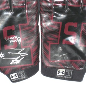 Adam Fuehne Game Worn & Signed Southern Illinois Salukis Under Armour Gloves