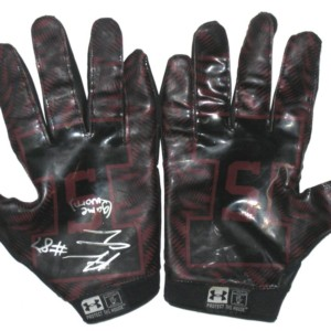 Adam Fuehne Game Worn Southern Illinois Salukis Under Armour Gloves