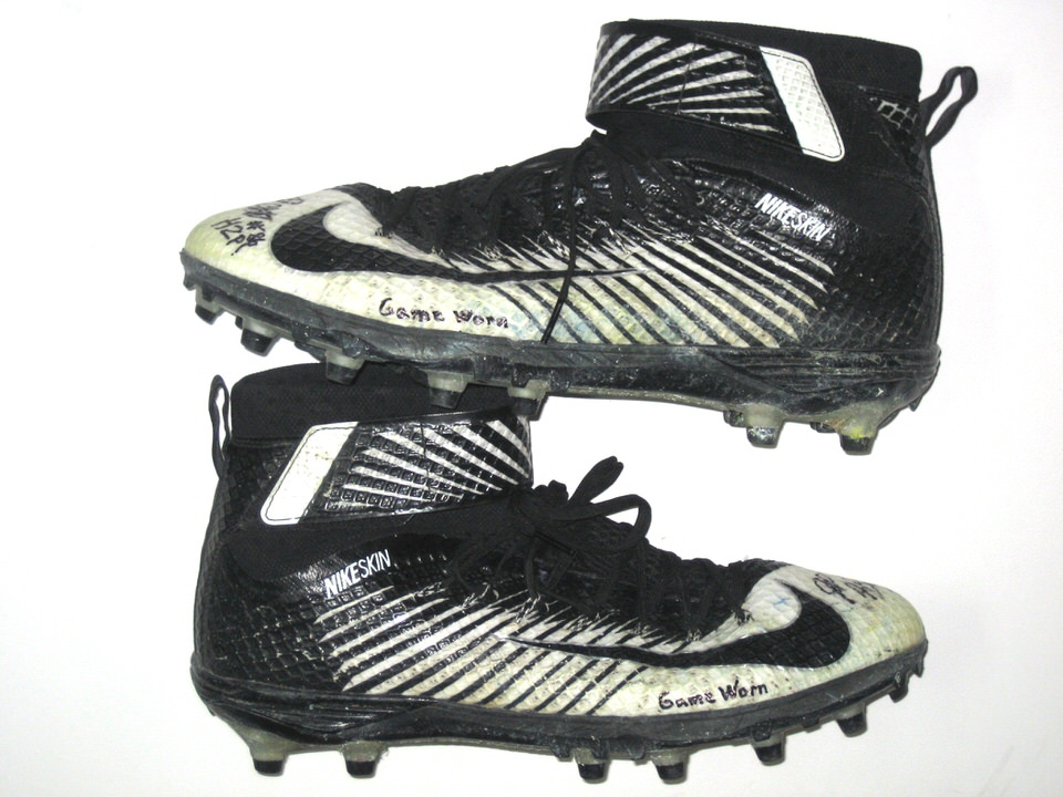 brand new 8aecb c05fc JP Holtz Pittsburgh Panthers Game Worn & Signed Nike Lunarbeast Elite TD  Cleats