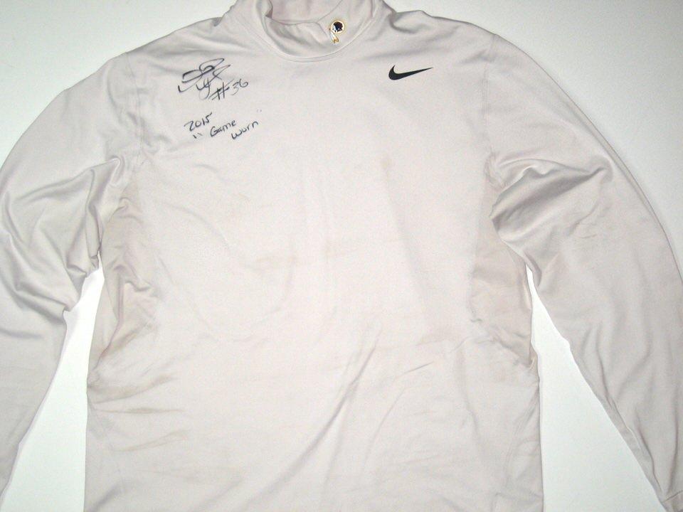 f898dc5c Darrel Young Game Worn & Signed Washington Redskins Nike Dri-Fit Turtleneck