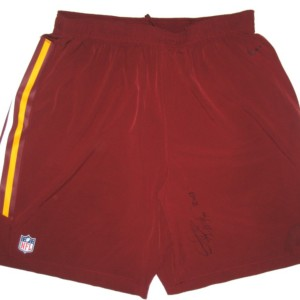 0cbb285f0 Darrel Young Training Worn   Signed Official Washington Redskins Nike Speed  Vent Performance Dri-FIT